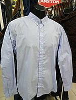 Рубашка мужская голубая 100% хлопок  Польша
