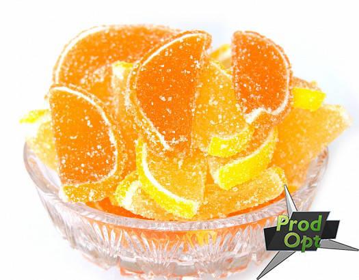 Мармелад ваговий лимонно-апельсинові частки 1,8кг   , фото 2
