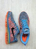 Мужские кроссовки  Nike Flyknit Air Max Ocean Fog