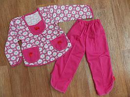 Пижама трикотаж+начес Цветочек