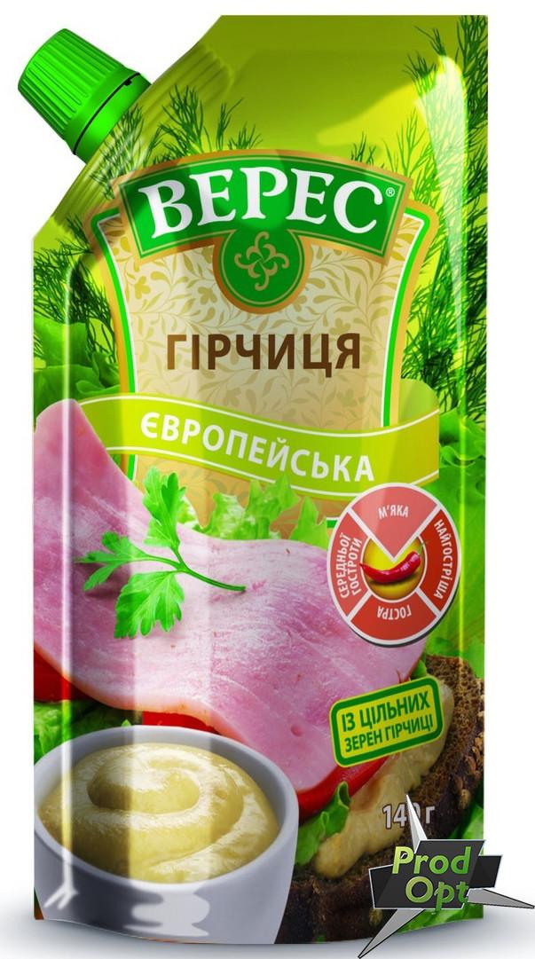 """Гірчиця """"Європейська"""" Верес 140 г"""