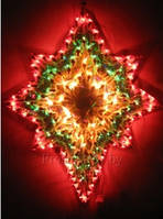 "Новогоднее панно ""Звезда"" 135 ламп 54х42 см, фото 1"