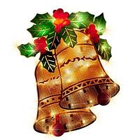 """Новогоднее панно """"Колокольчик"""" 36х27 см - 8 режимов свечения, фото 1"""