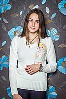 Свитер теплый с аппликацией №1256 р.42-48 кукла