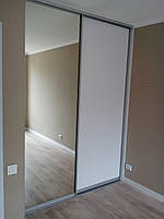 Двери 2 шт в алюминиевом профиле Elite в проем 250 см на 120 см