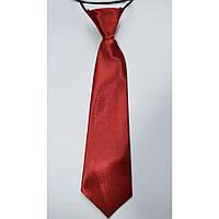 Детский галстук,мальчику красный размер 26см, фото 1