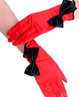 Короткие женские вечерние атласные перчатки закрытые, размер универсальный, цвета разные. Розница, опт.