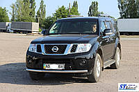 Nissan Pathfinder Нижняя одинарная губа нерж St008