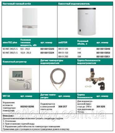 Пакетное предложение №1 atmoTEC plus VU INT + бойлер uniSTOR VIH R (120, 150, 200) + VRT 50, фото 2