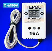 Терморегулятор цифровой ЦТР-3д для инкубатора в розетку 16А (-40...+125) гистерезис 0,1°С