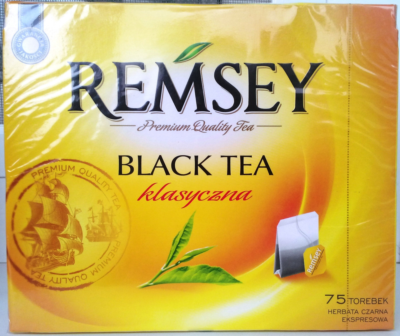 Чай в пакетах Remsey Black Tea - 75 шт.