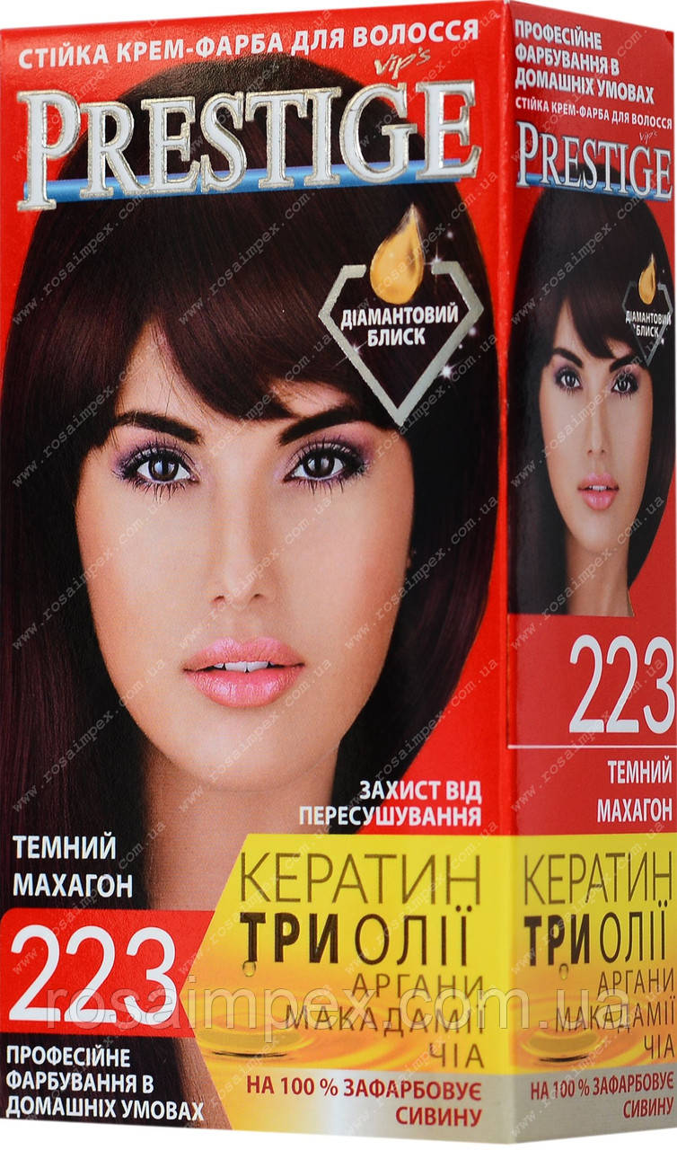 Стійка фарба для волосся vip's Prestige №223 Темний махагон
