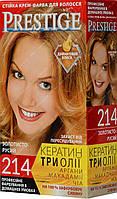 Стойкая крем краска Prestige №214 Золотисто русый