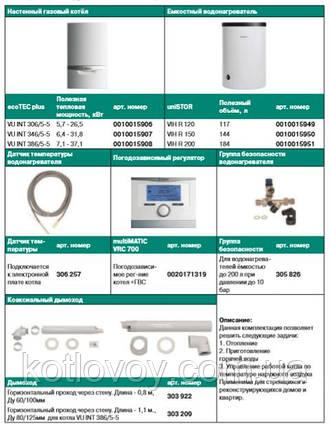 Пакетное предложение №5 Vaillant ecoTEC plus VU INT + бойлер uniSTOR VIH R (120, 150, 200) + multiMATIC VRC 70, фото 2