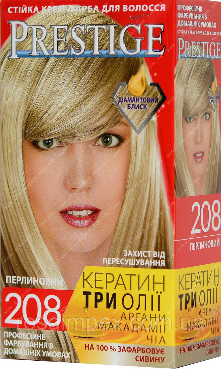 Стійка фарба для волосся vip's Prestige №208 Жемчужний