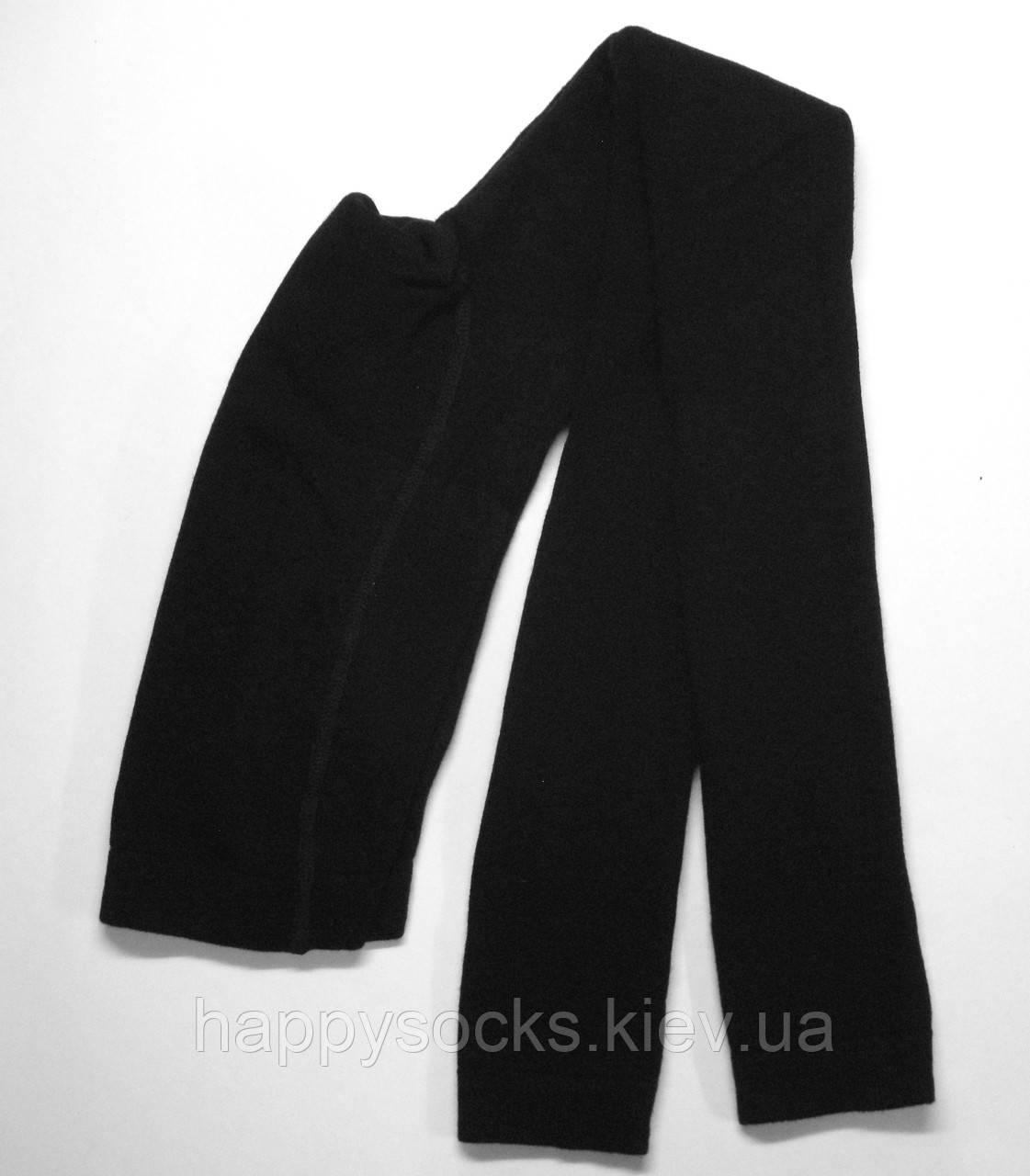 Махровые однотонные хлопковые лосины черного цвета Bross