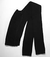 Махровые однотонные хлопковые лосины черного цвета Bross, фото 1