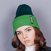 Двухцветная зеленая шапочка, фото 1