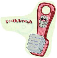 Полотенце с петелькой Зубная щетка (40*70 для рук)