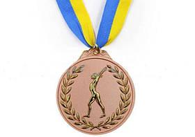 Медаль спорт d-6,5см С-4851-3 бронза (Гимнастика)