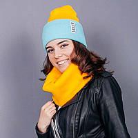 Мятно-желтая шапочка, фото 1