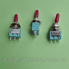 Тумблер MTS-103 трёхфазный (on-off-on), 3 pin, 3A 250V AC