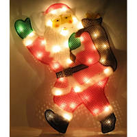 """Новогоднее панно """"Дед Мороз"""" 45х30 см - 8 режимов свечения"""