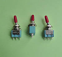 Тумблер MTS-102 двухфазный (on-on), 3 pin, 3A 250V AC