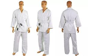 Кимоно дзюдо белое MATSA MA-0013-2 (х-б, р.2 (150см), пл.450г на м2)