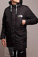 Куртка зимняя теплая, парка мужская, идеально для зимы - 25 , черная, супер качество,