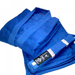 Кимоно дзюдо синее MATSA МА-0015-0 (х-б, р.0 (130см), пл.450г на м2)