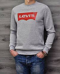 Свитшот Levi's серый реплика