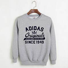 Свитшот Adidas серый реплика