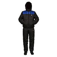 Мужской черный теплый спортивный костюм на синтепоне пр-во Украина F11517