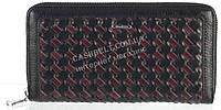 Оригинальный прочный женский кожаный кошелек барсетка высокого качества Mario Veroni art.MV-153-785 черный