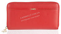 Оригинальный прочный женский кожаный кошелек барсетка высокого качества Caffier art.CA-93-1141В красный
