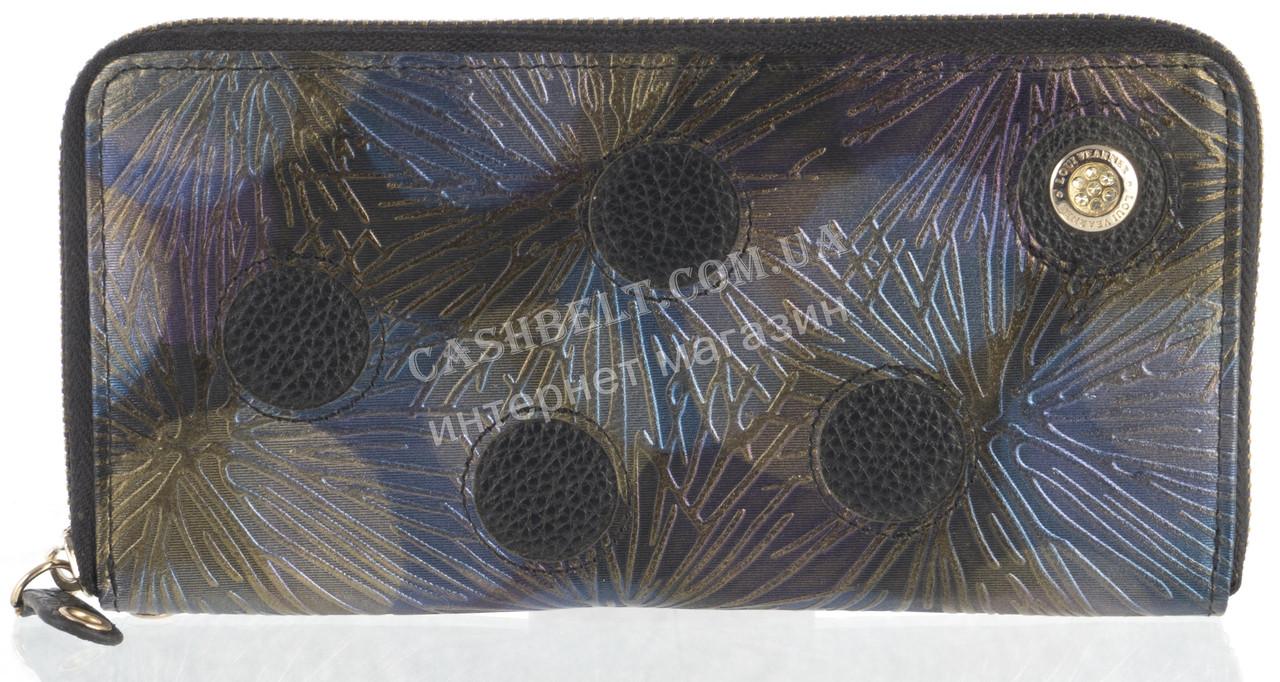 Оригинальный прочный женский кожаный кошелек барсетка высокого качества Loui Vearner art.LOU039-011A черный