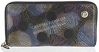 Оригинальный прочный женский кожаный кошелек барсетка высокого качества Loui Vearner art.LOU039-011A черный, фото 1