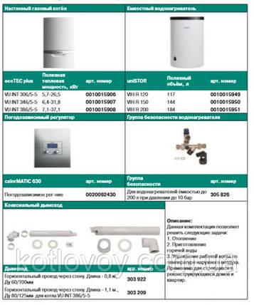 Пакетное предложение №8 ecoTEC plus VU INT + бойлер uniSTOR VIH R (120, 150, 200) + calorMATIC 630, фото 2