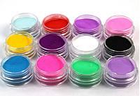 Акриловая пудра цветная порошок для дизайна и укрепления ногтей