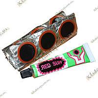 Red Sun Велосипедный ремкомплект 36 латок + клей, фото 1
