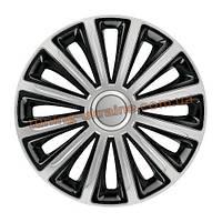 Автомобильные колпаки на колеса ELEGANT Trend Silver&Black R13