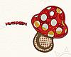 Полотенце с петелькой Грибочек (40*70 для рук)