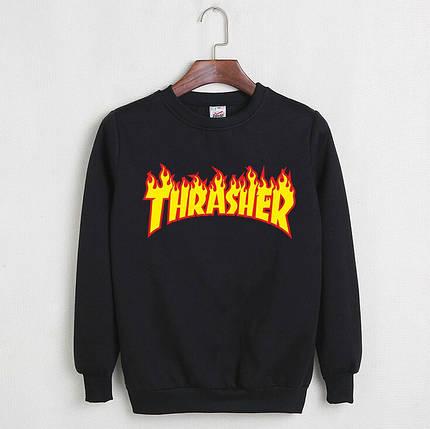 Свитшот Thrasher черный реплика, фото 2