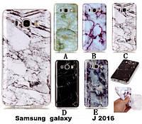 """SAMSUNG J7 2016 J710 противоударный чехол панель накладка бампер защита 360* для телефона  """"MARBLE"""""""