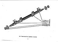 Балка оси передней 887Б-3001011 прицепа тракторного 2ПТС-4