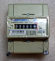 Электросчетчик однофазный ЦЭ 6807Б-U K 1,0 220В 5-60А М6Р5 на дин-рейку