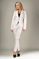 Костюм белый с брюками