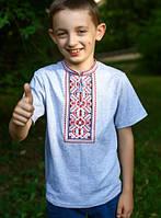 Детская вышитая трикотажная футболка