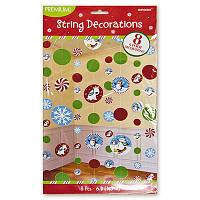 Гирлянда вертикальная  Снеговики,  новогодний, праздничный декор
